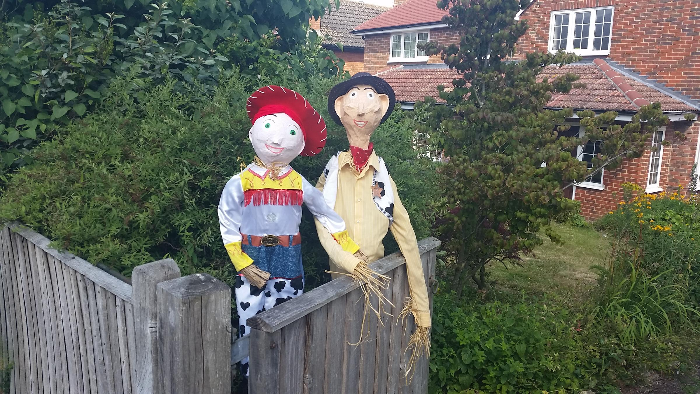 Scarecrows at previous festivals. Photo: Steve Williams