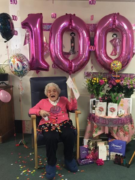 100th Birthday Celebrations For Copper Beeches Resident