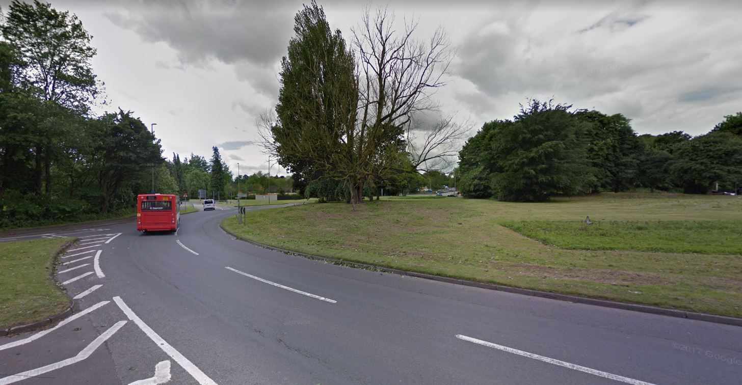 The collision took place close to the Folly Roundabout