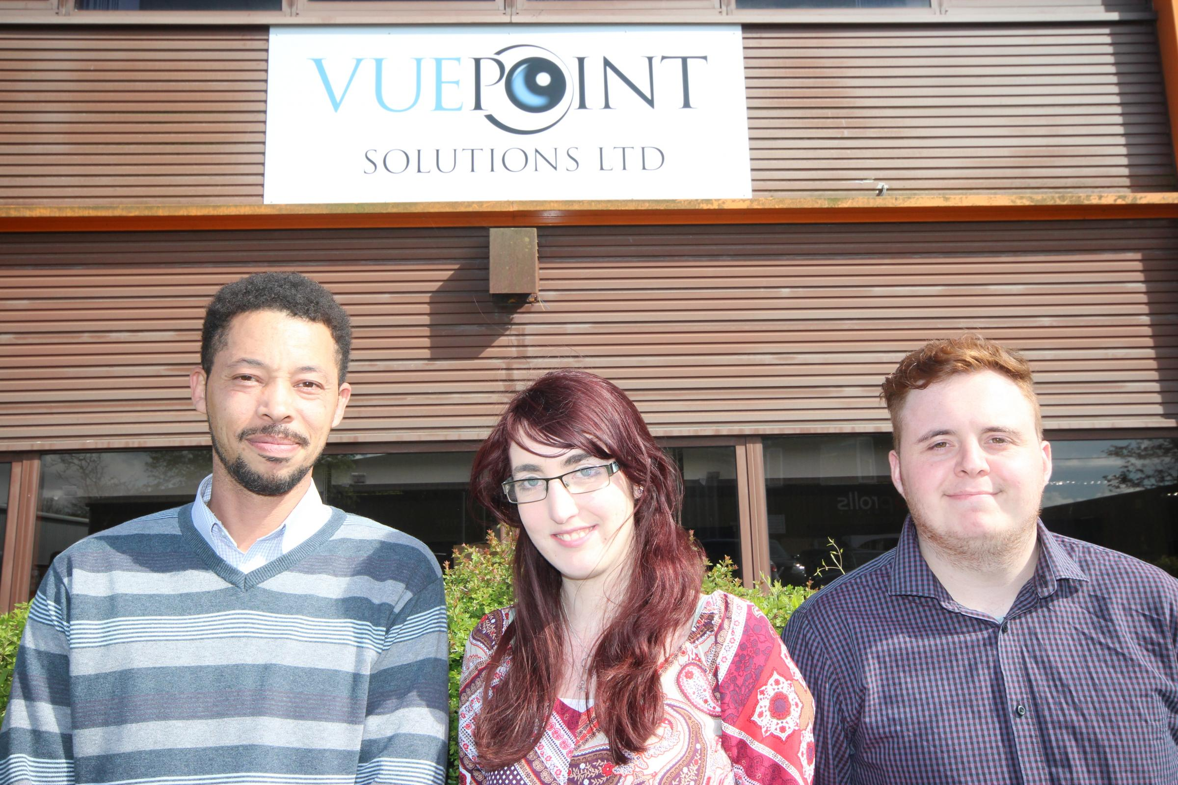 VuePoint Solutions apprentices James Rule, Sasha Geall and Anthony McKellop