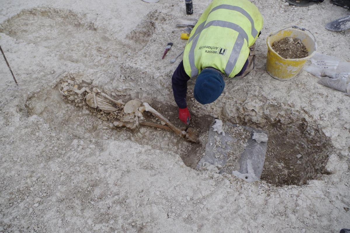 Wessex Archeology undertook ecavations on Roman remains in Ludgershall