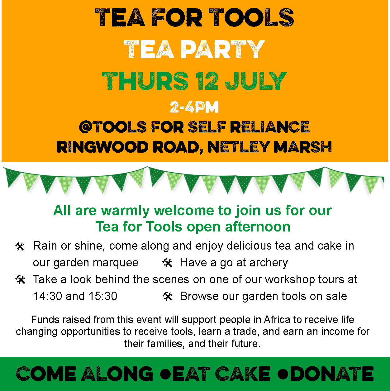 Tools for Self Reliance Open Afternoon