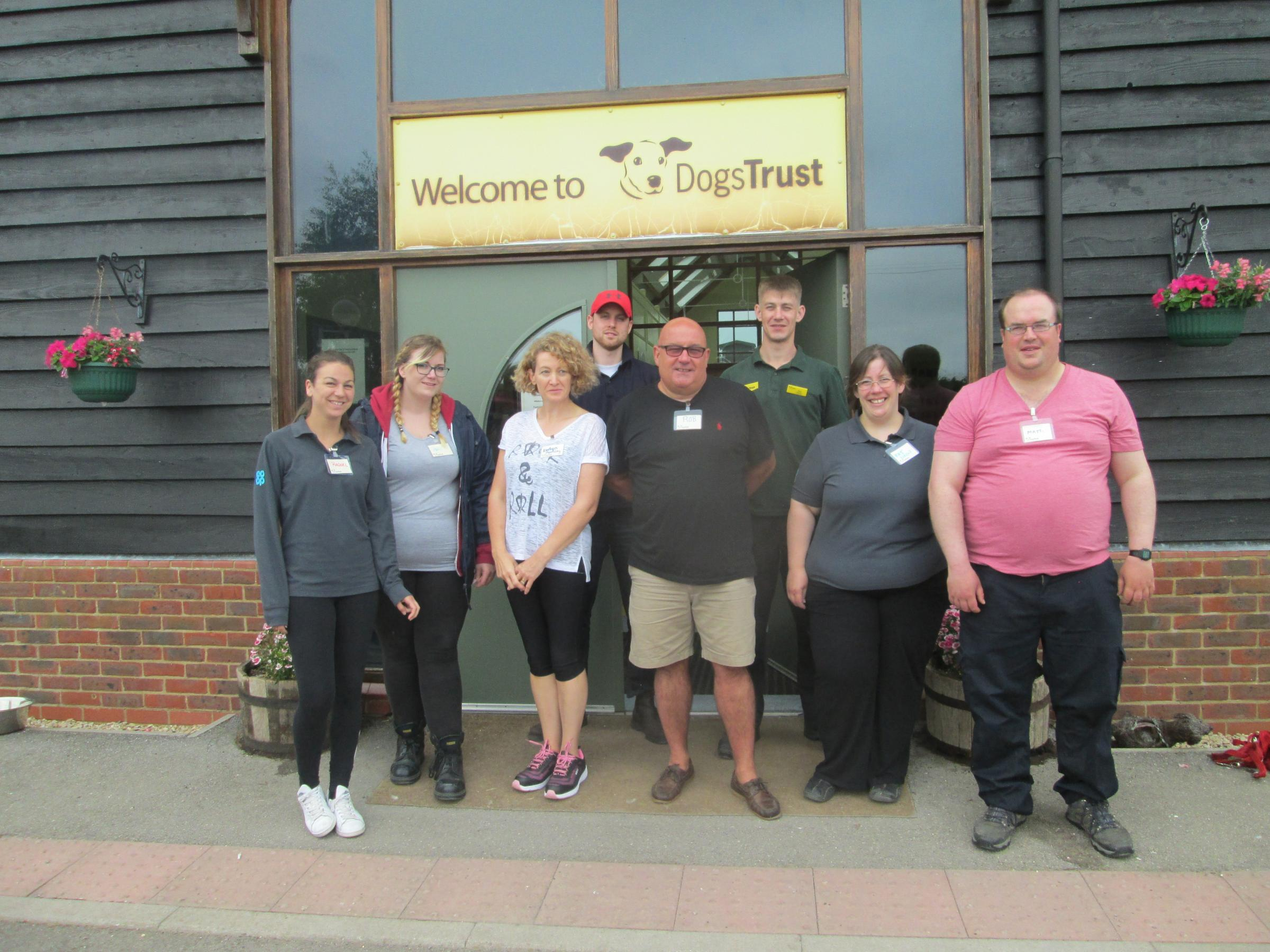 The team from the Co-op distribution centre out Dogs Trust