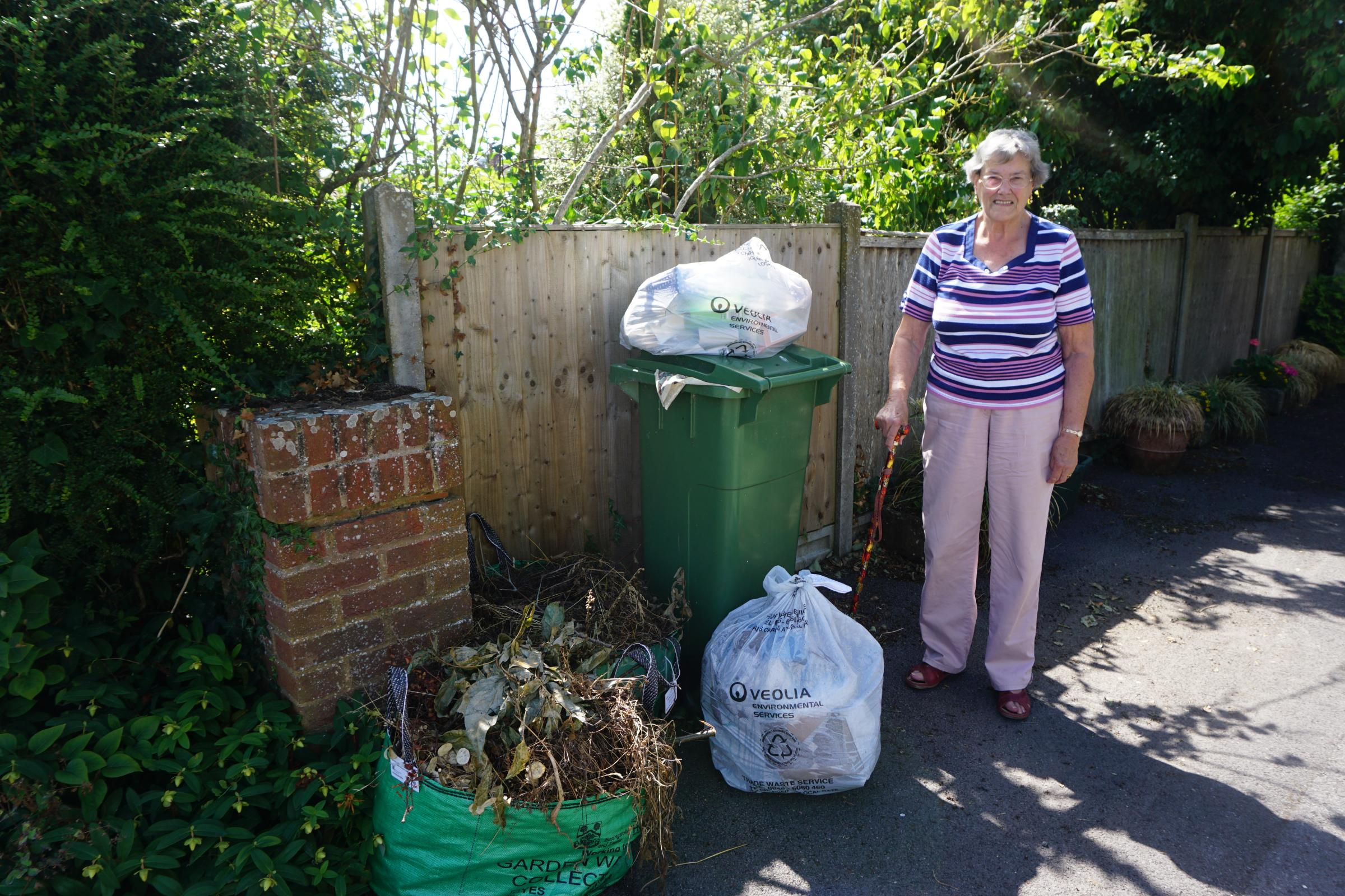 Jill Hallet has had enough of irregular green waste collections