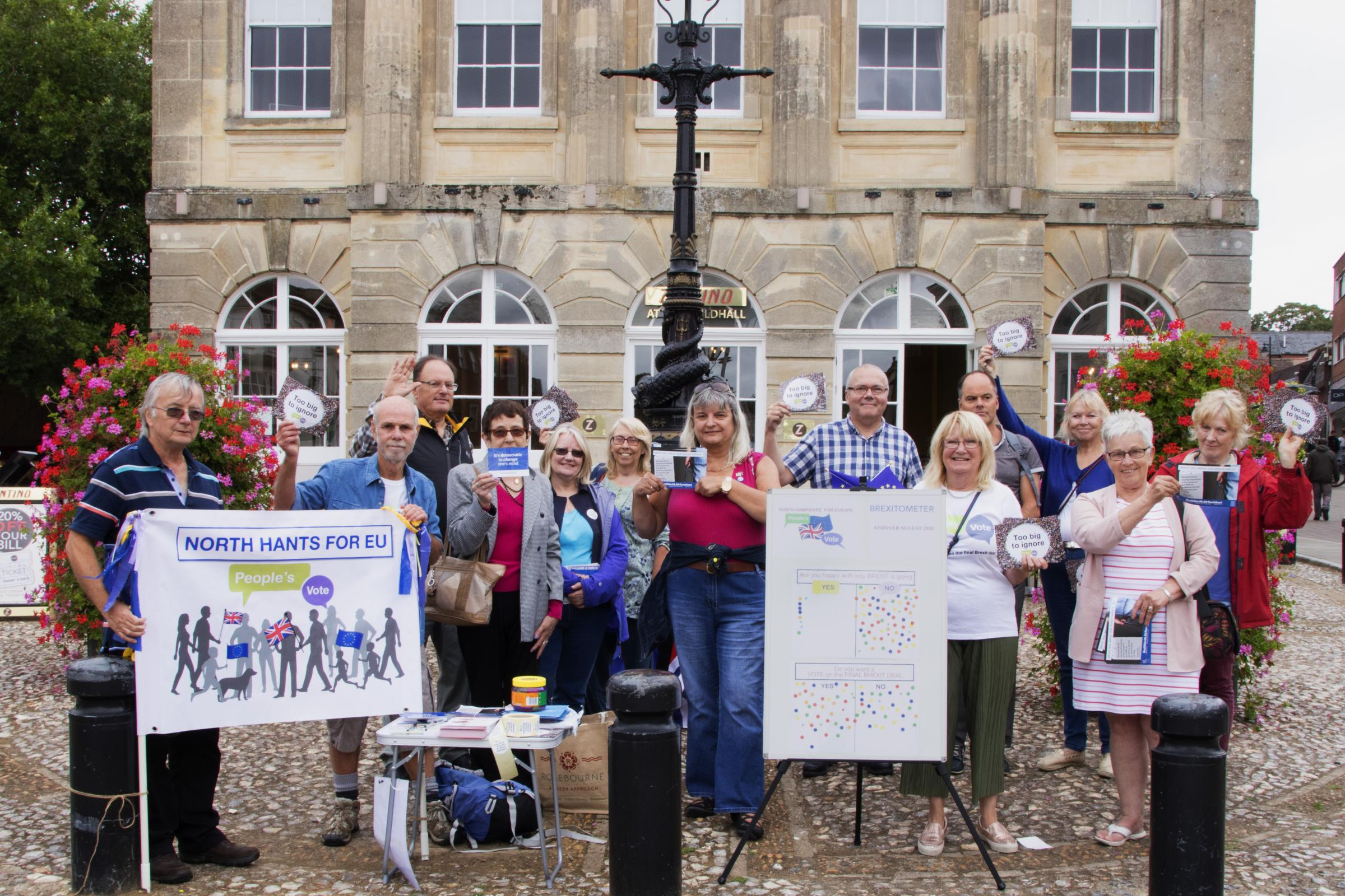 North Hampshire for Europe campaigners outside the Guildhall. Image: Linda Gates