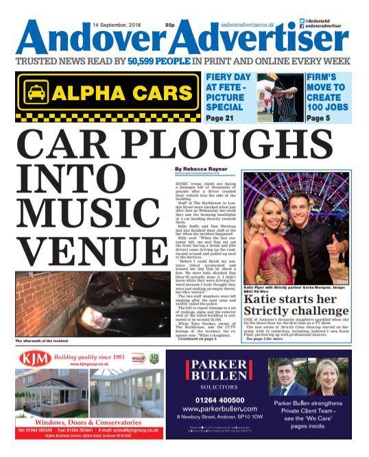 PREVIEW: Car rams into music venue causing thousands of pounds worth of damage