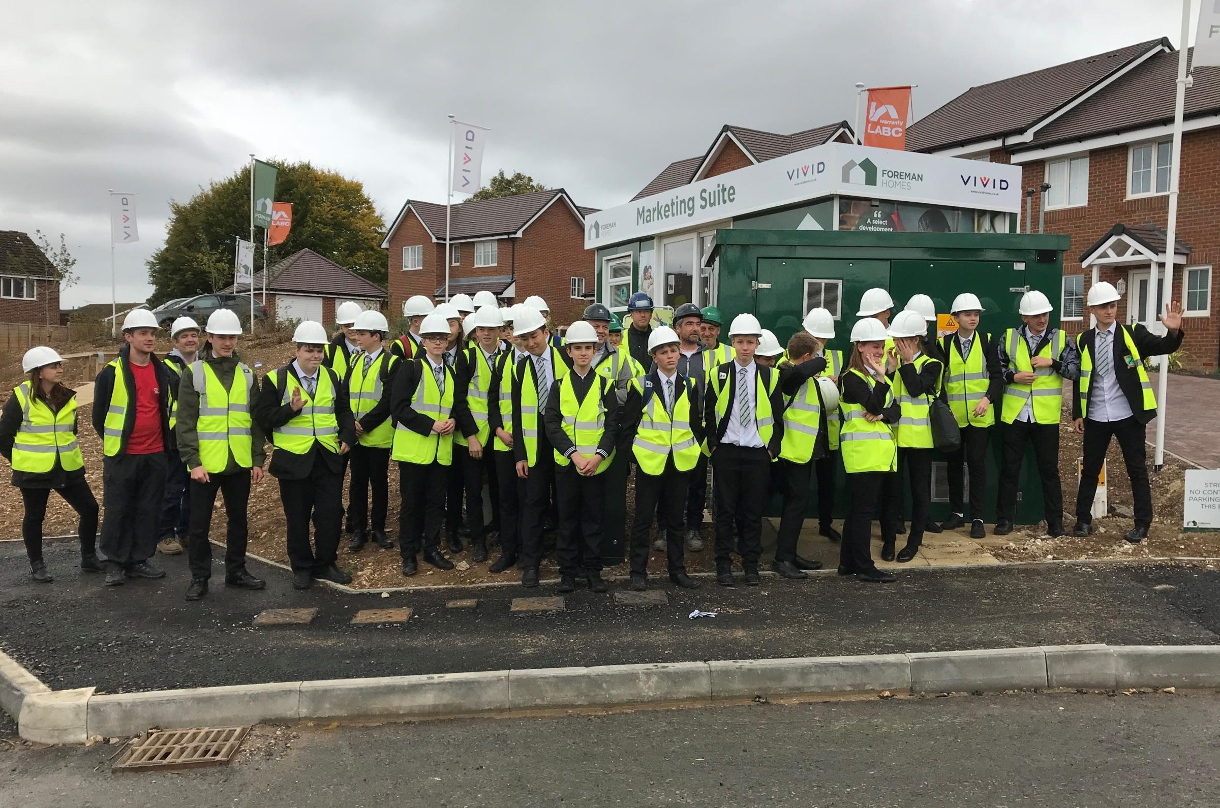 Harrow Way pupils at the Peake Meadows development in Charlton