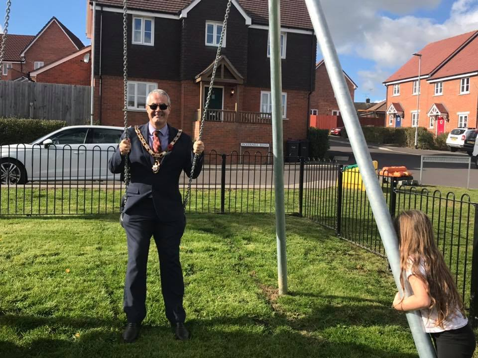 Tidworth mayor Councillor Mark Connolly at the new playpark