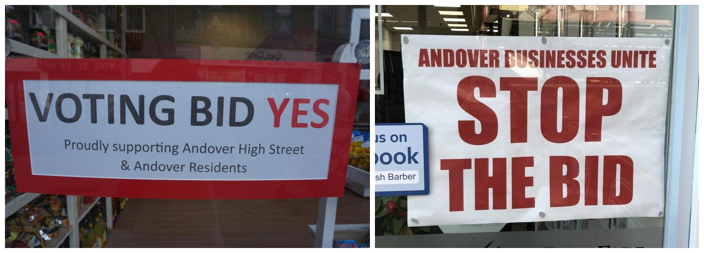 Andover businesses were on both sides of the BID debate