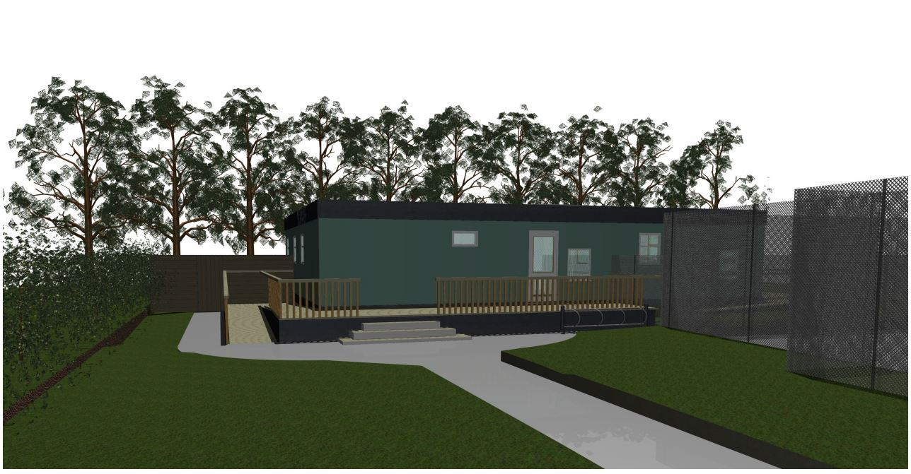 Artist's impression of the new Kings Somborne pre-school building