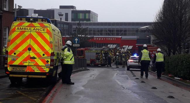 Firefighters attended the major incident at Southampton today