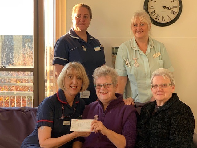 A cheque was presented to the Countess of Brecknock