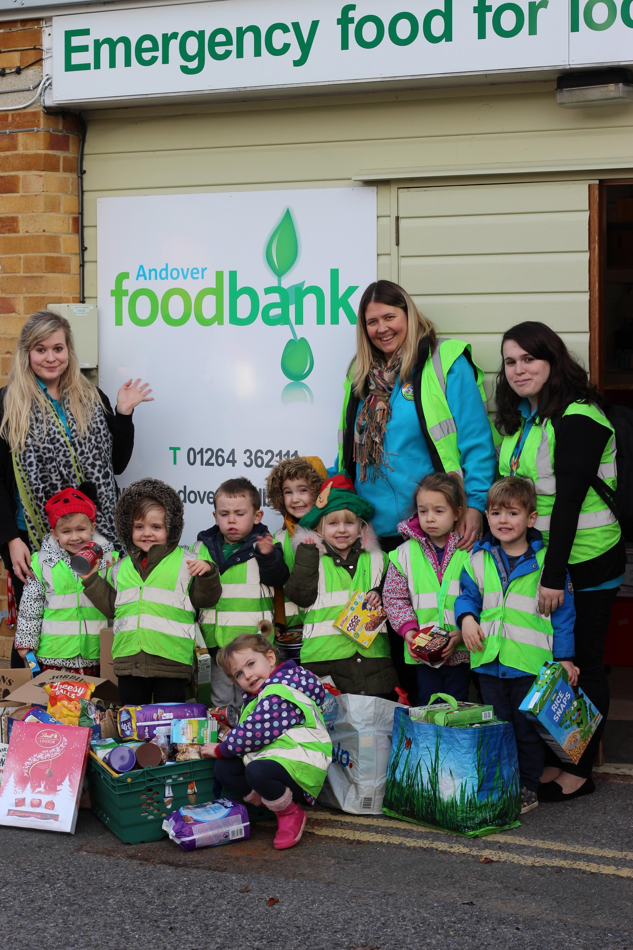 Finkley Down Farm Nursery and Pre School at Andover Foodbank
