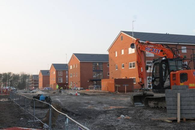 New barracks under construction by Aspire Defence. Picture by Tom Gregory