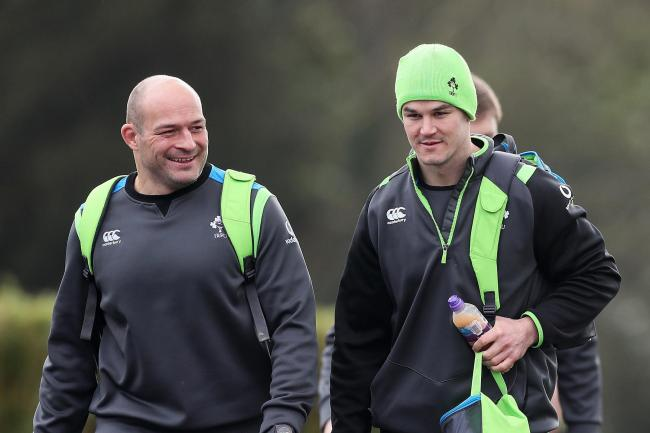 Rory Best, left, has tipped Ireland fly-half Johnny Sexton to keep improving despite a stellar 2018