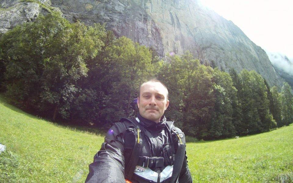Expert base jumper Rob Haggarty died after crashing into