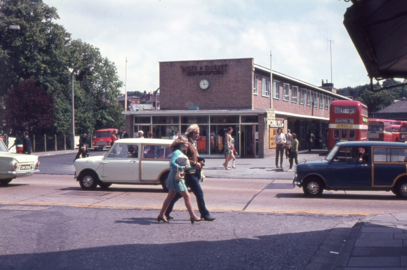 The bus station's booking office in the late 1960s - Picture Jeffery Saunders