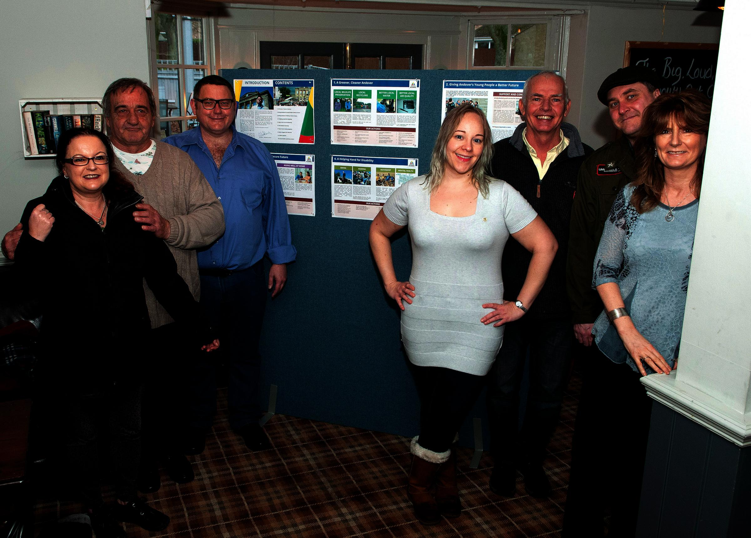 Members of the Andover Alliance at the launch of their manifesto. Image: Andy Brooks