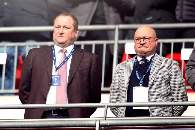 Newcastle owner Mike Ashley, left, and managing director Lee Charnley