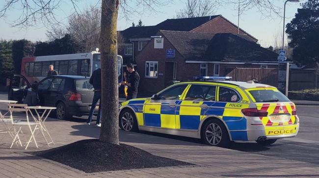 Drug driver arrested in Andover. Image: Andover Police Twitter