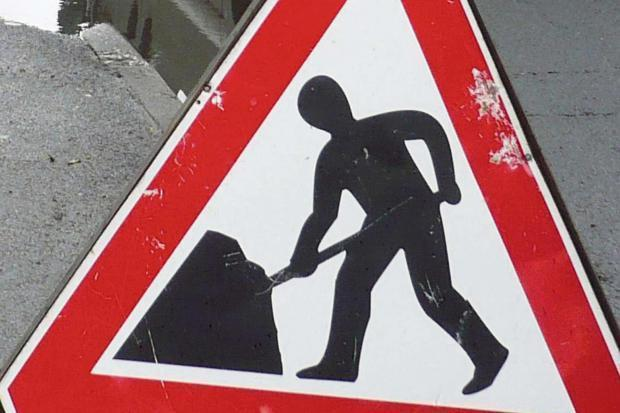 Roadworks will take place on a section of the A303 next week