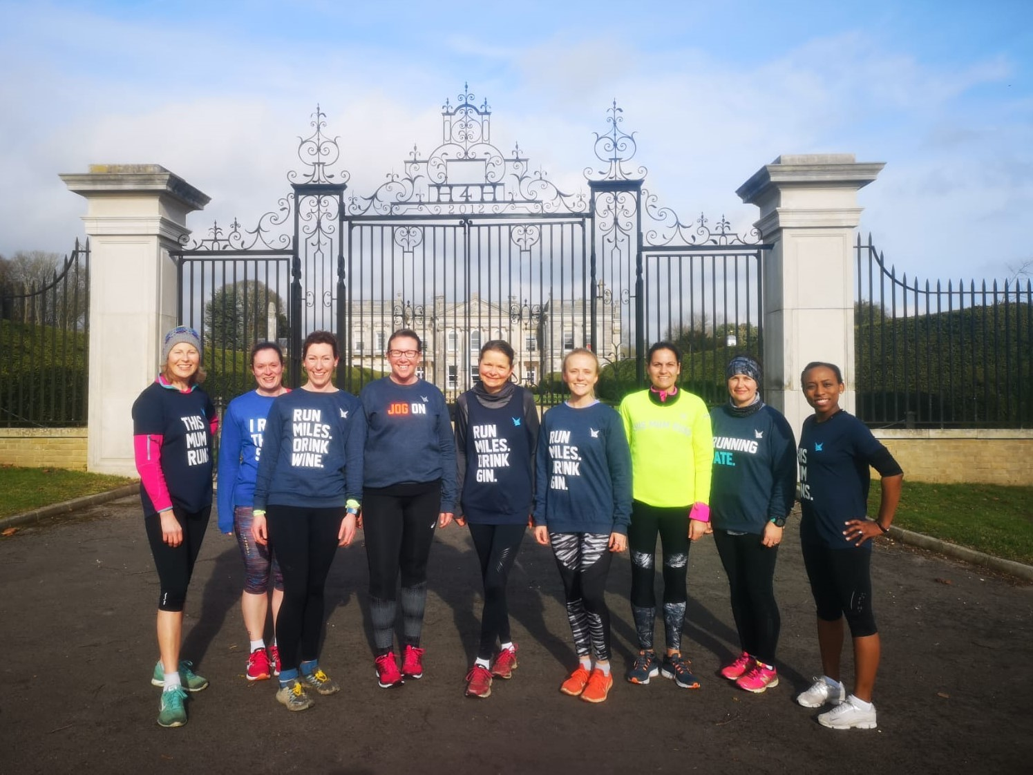 Rosalind Oram and other mums on a pre-launch run