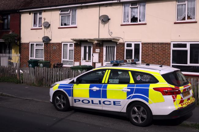 Police in Stanwell, Surrey, investigating a stabbing (Steve Parsons/PA Wire)
