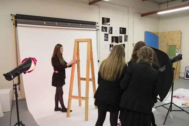 Students took part in a photography workshop