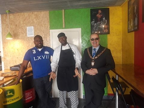 From left, Kerry Charles, Joe Beckford and Councillor Mark Connolly at the official opening