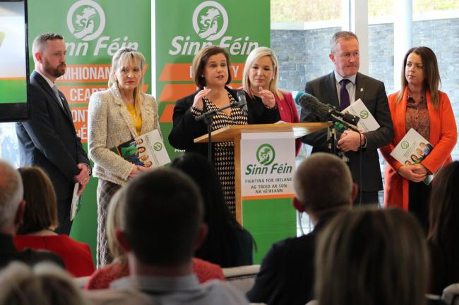 Sinn Fein manifesto launch in Ballymena