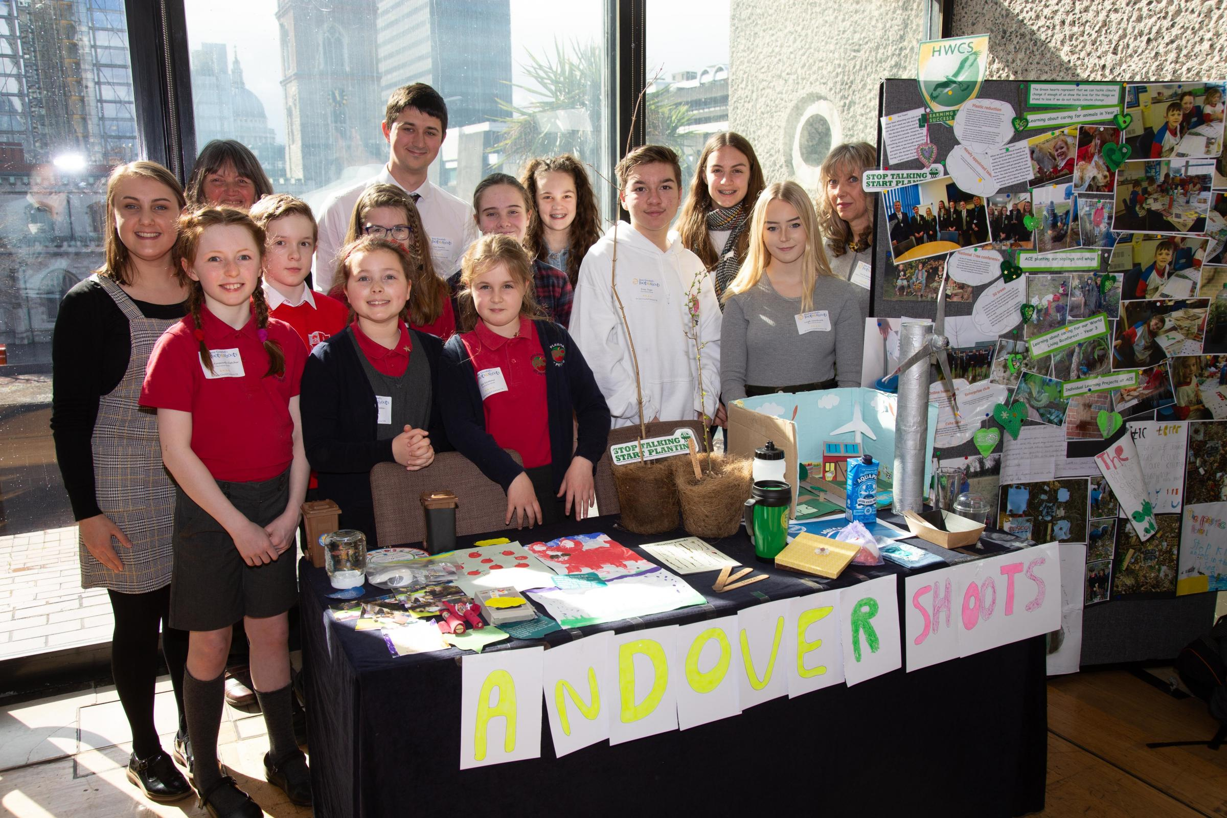 The students with their stand. Image: Burdock Photography