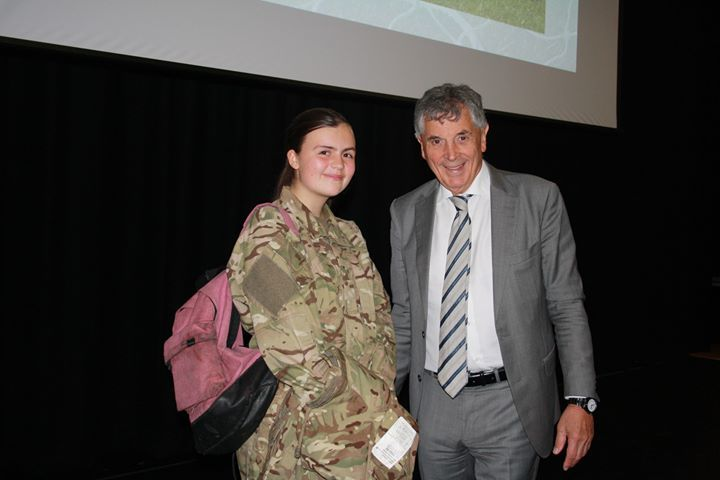 David Dein with one of the academy's students