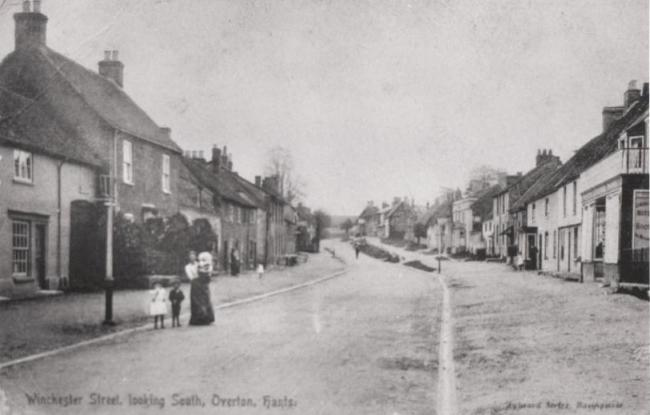 Winchester Street, Overton, looking south, circa 1900