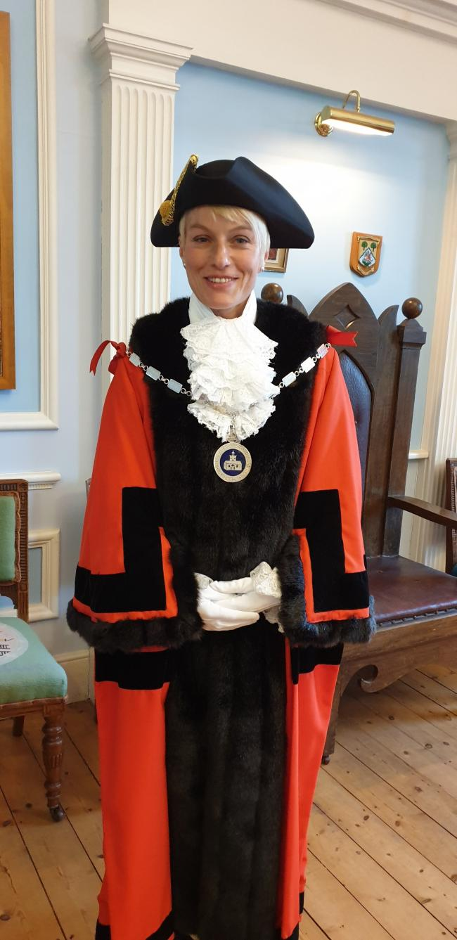 Newly elected Chairman and Mayor, Fiona Nicolson