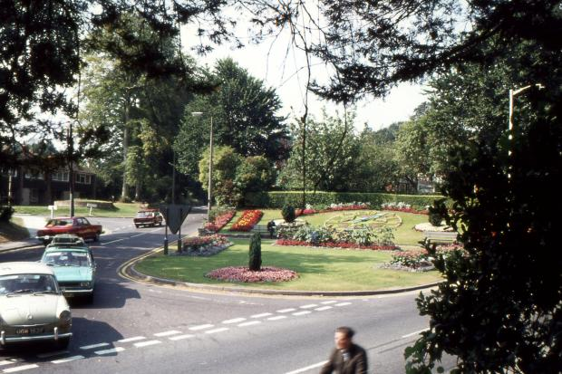 The Floral Clock at the junction of Salisbury Road and Weyhill Road. Picure: the late Jeffrey Saunders