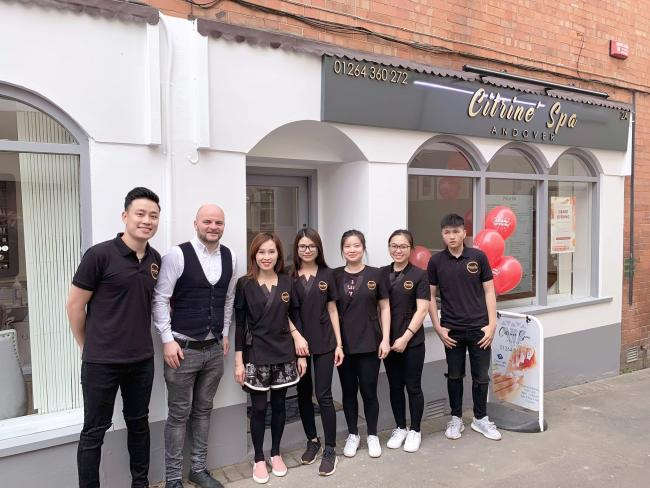 Staff at Citriné Spa celebrate the opening