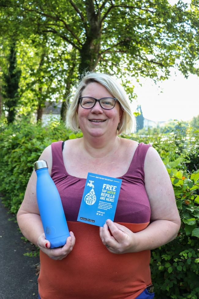 Katherine Bird with her Refill bottle