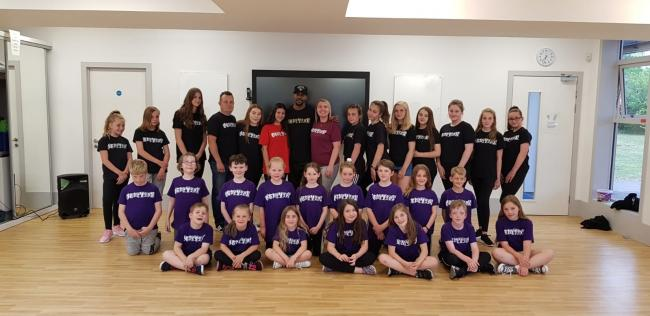 Centre, Tee with Tanya, and Oblivion Dance students