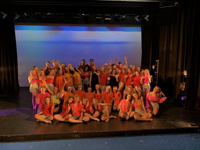 Andover College's performing arts and dance students in their end-of-year summer show