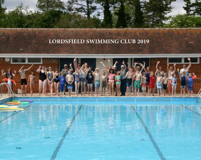 Lordsfield Swimming Club at the grand opening