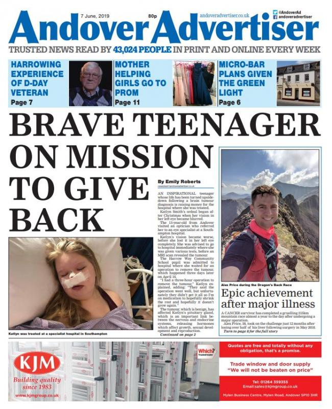 PAPER PREVIEW: Brave teenager's mission to give back to hospital that treated her