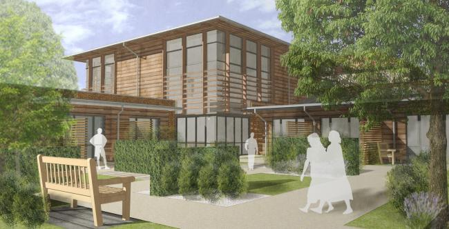 An impression of what the Countess of Brecknock Hospice will look like after the extension