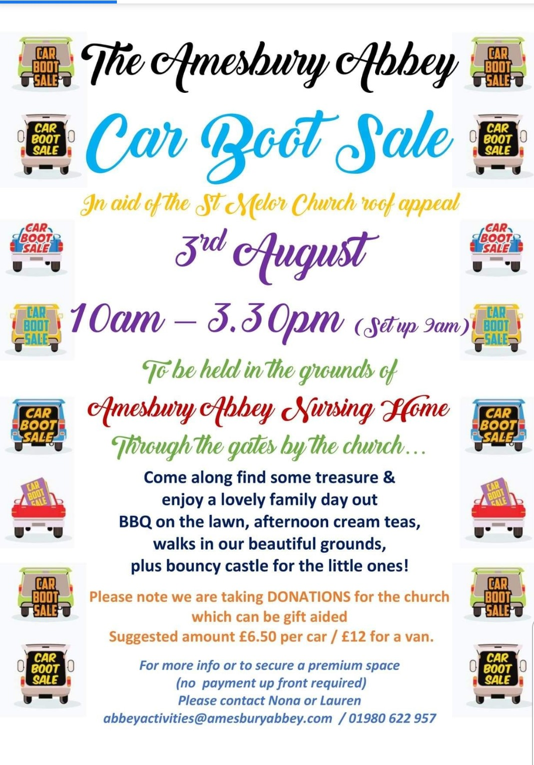 Amesbury Abbey car boot sale